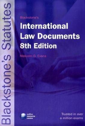 9780199211845: Blackstone's International Law Documents (Blackstone's Statute Book)