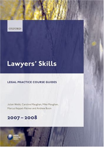 9780199212187: Lawyers' Skills 2007-2008 (Legal Practice Guides)