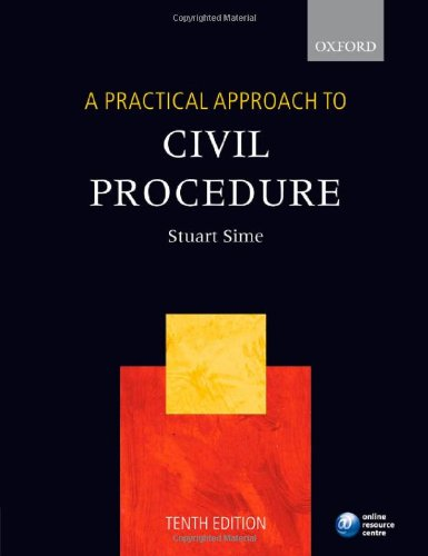 9780199212330: A Practical Approach to Civil Procedure