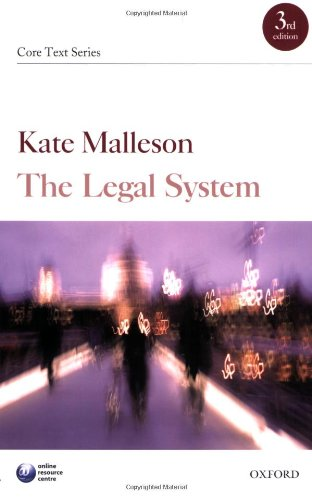 9780199212699: The Legal System (Core Texts Series)