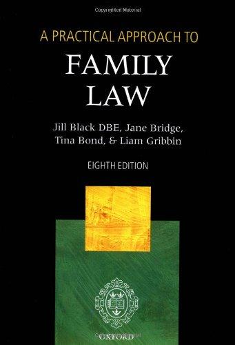 A Practical Approach to Family Law (Blackstone's: Black, Jill, Bridge,