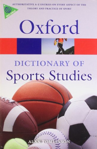 9780199213818: A Dictionary of Sports Studies