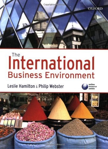 9780199213993: The International Business Environment