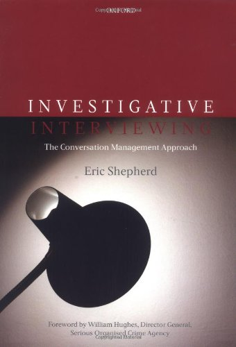 9780199214099: Investigative Interviewing: The Conversation Management Approach