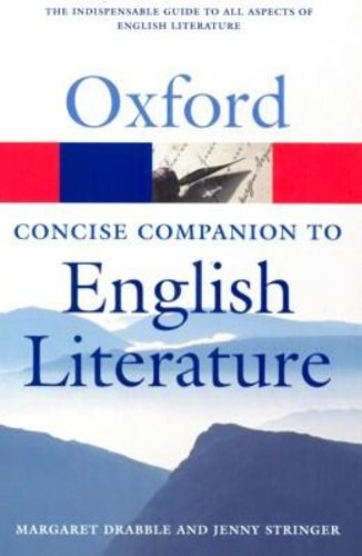 9780199214921: The Concise Oxford Companion to English Literature (Oxford Quick Reference)