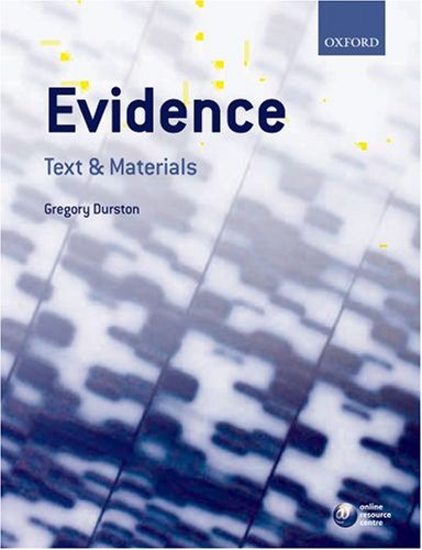 9780199215485: Evidence: Text & Materials