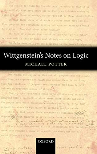9780199215836: Wittgenstein's Notes on Logic