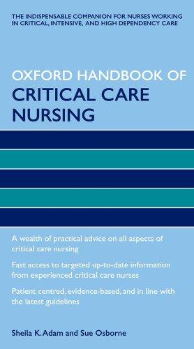 9780199215904: Oxford Handbook of Critical Care Nursing