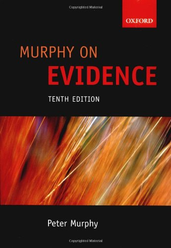 9780199216284: Murphy on Evidence