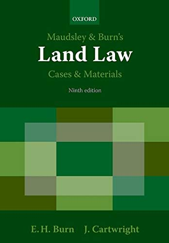 9780199226177: Maudsley & Burn's Land Law Cases and Materials
