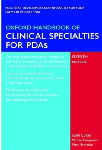 9780199227167: Oxford Handbook of Clinical Specialties for PDAs (Oxford Handbooks Series)