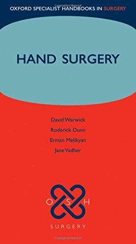 9780199227235: Hand Surgery (Oxford Specialist Handbooks in Surgery)