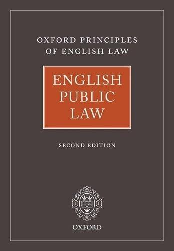 English Public Law (Hardback)