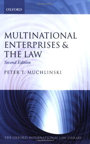 9780199227969: Multinational Enterprises and the Law (Oxford International Law Library)