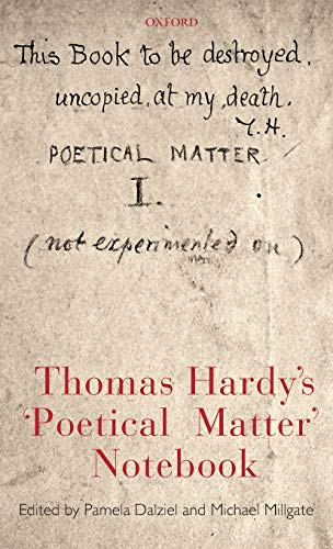 9780199228492: Thomas Hardy's 'Poetical Matter' Notebook