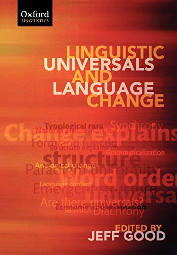 9780199228997: Linguistic Universals and Language Change (Volume 12)