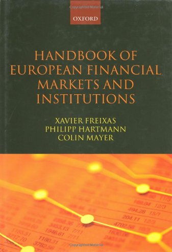 9780199229956: Handbook of European Financial Markets and Institutions