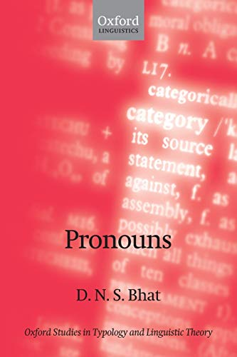 9780199230242: Pronouns (Oxford Studies in Typology and Linguistic Theory)