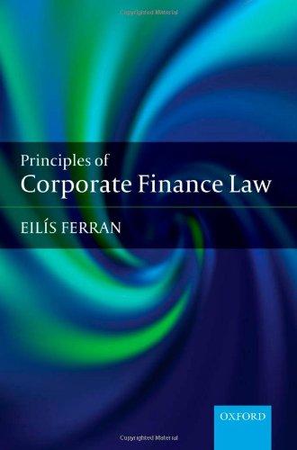 9780199230501: Corporate Finance Law