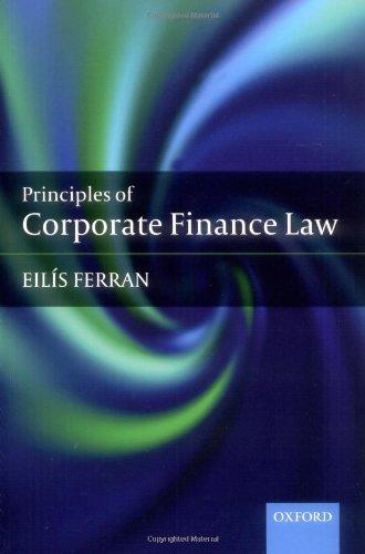 9780199230518: Corporate Finance Law