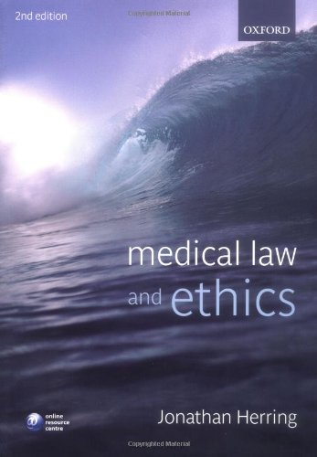 9780199230662: Medical Law and Ethics