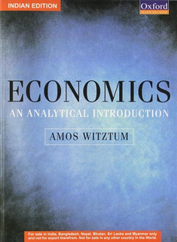 9780199231300: Economics: An Analytical Introduction