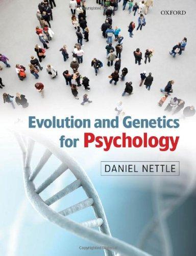 9780199231515: Evolution and Genetics for Psychology