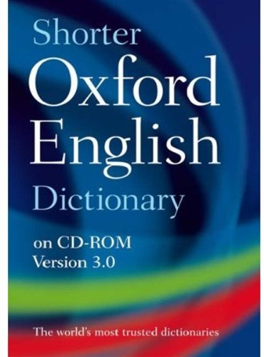 9780199231768: Shorter Oxford English Dictionary 6th Edition on CD-ROM: Windows/Mac Individual User Version 3.0
