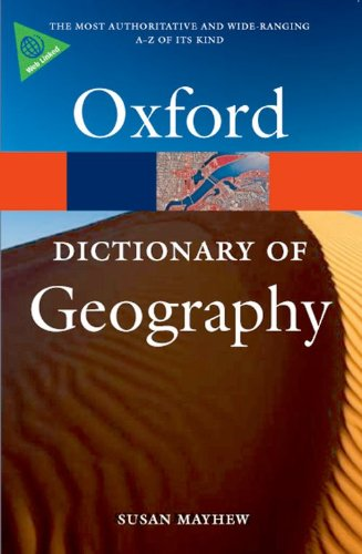 9780199231805: A Dictionary of Geography (Oxford Quick Reference)