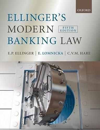 9780199232093: Ellinger's Modern Banking Law