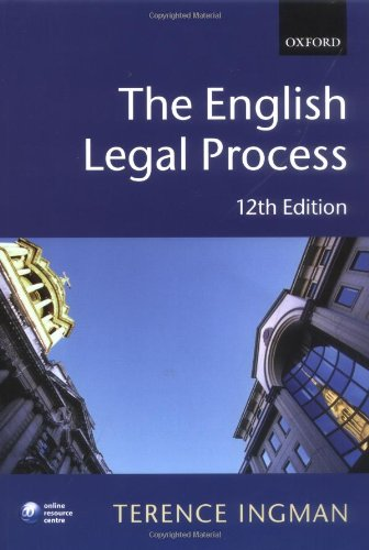 9780199232291: The English Legal Process