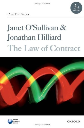The Law of Contract (Core Texts Series): Janet O'Sullivan, Jonathan
