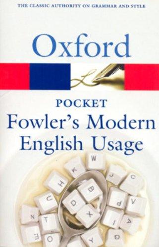 9780199232581: Pocket Fowler's Modern English Usage