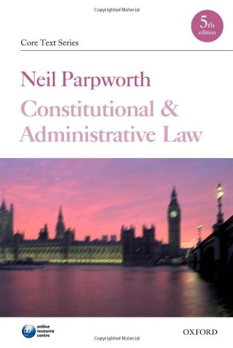 9780199232857: Constitutional and Administrative Law (Core Texts Series)