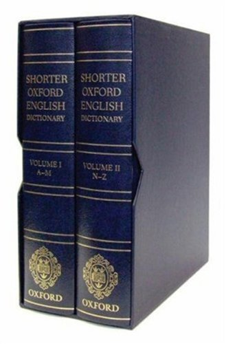 9780199233250: Shorter Oxford English Dictionary - Deluxe Leather Bound Edition
