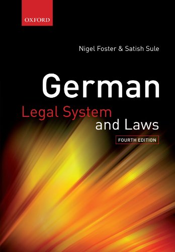 9780199233434: German Legal System and Laws (German Legal System & Laws)