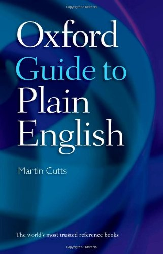 9780199233458: Oxford Guide to Plain English