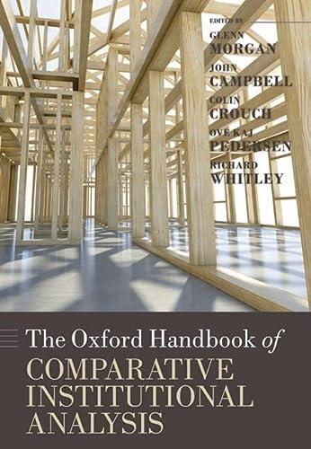 9780199233762: The Oxford Handbook of Comparative Institutional Analysis (Oxford Handbooks)