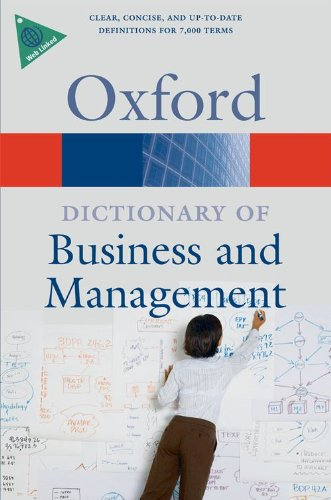 9780199234899: A Dictionary of Business and Management (Oxford Quick Reference)
