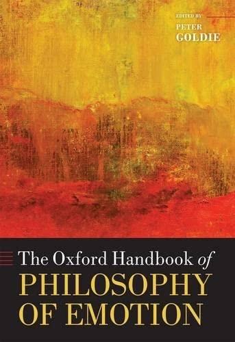 9780199235018: The Oxford Handbook of Philosophy of Emotion
