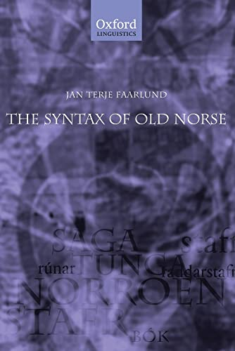 9780199235599: The Syntax of Old Norse: With a survey of the inflectional morphology and a complete bibliography