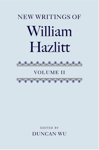 9780199235742: New Writings of William Hazlitt: v.2