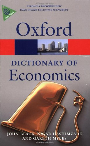 9780199237043: A Dictionary of Economics (Oxford Quick Reference)