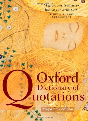 9780199237173: Oxford Dictionary of Quotations