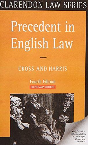 9780199238002: Precedent In English Law, 4th Edition