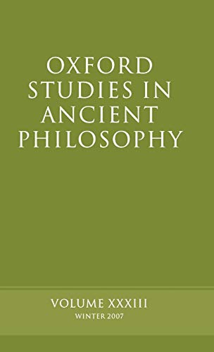 9780199238019: Oxford Studies in Ancient Philosophy: Volume 33