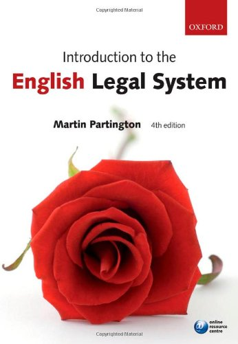 9780199238101: Introduction to the English Legal System