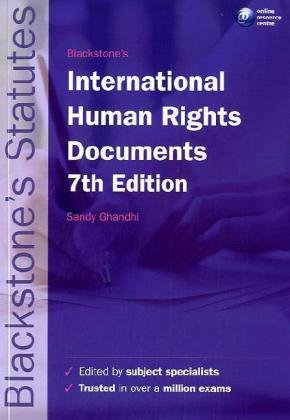 9780199238231: Blackstone's Statutes on International Human Rights Documents (Blackstone's Statute Book Series)