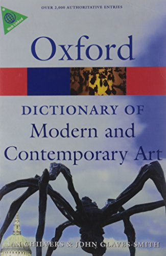 9780199239665: A Dictionary of Modern and Contemporary Art (Oxford Paperback Reference)