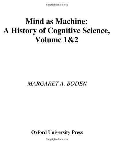 9780199241446: Mind As Machine: A History of Cognitive Science Two-Volume Set